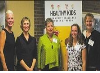 The Healthy Kids Community Challenge launched in Huron County on Oct. 29.  Pictured here, from left to right, Bonnie Baynham, Dr. Janice Owen, Michele
