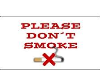 Please don't smoke sign