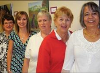 Pictured here from left to right: Peggy Cook, IODE; Shannon LaHay, AMGH Foundation coordinator, Joan Winter, IODE; Mary Ellen Jasper, IODE Regent; and