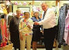 The Alexandra Marine and General Hospital Auxiliary presented a cheque for $15,000 to AMGH CEO Bill Thibert.  Pictured here from left to right, Gwen B