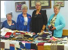 Goderich Quilt Guild members, from left to right, Pat Hook, Marg Fouts, Marlene Mooy, Bev VanNinhuys