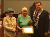 Donna Murray accepted the Senior of the Year award from Goderich Mayor Kevin Morrison at the Aug. 8 council meeting.  Murray was nominated by Jennifer