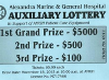 A ticket from the Auxiliary Lottery