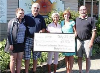 The Alexandra Marine and General Hospital (AMGH) Foundation accepted a donation of $2,725, proceeds from the Rally for the cure Golf Tournament, on Ju